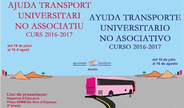 Educación convoca las ayudas al transporte universitario no asociado a ABEU