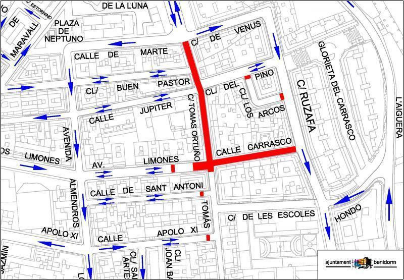 El tramo final de la calle Limones estará cortado unos 10 días para conectar los nuevos servicios de Tomás Ortuño y asfaltar la calle Carrasco