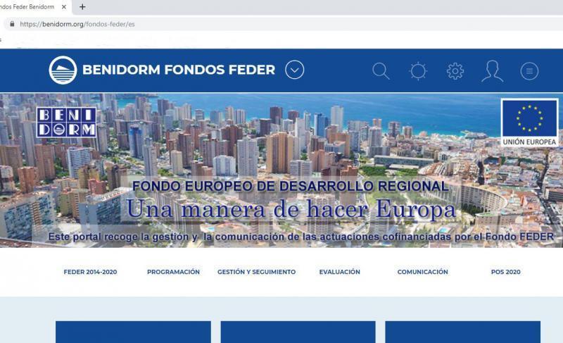 La web municipal incorpora un portal de Fondos FEDER en el que informará sobre las actuaciones cofinanciadas por la UE