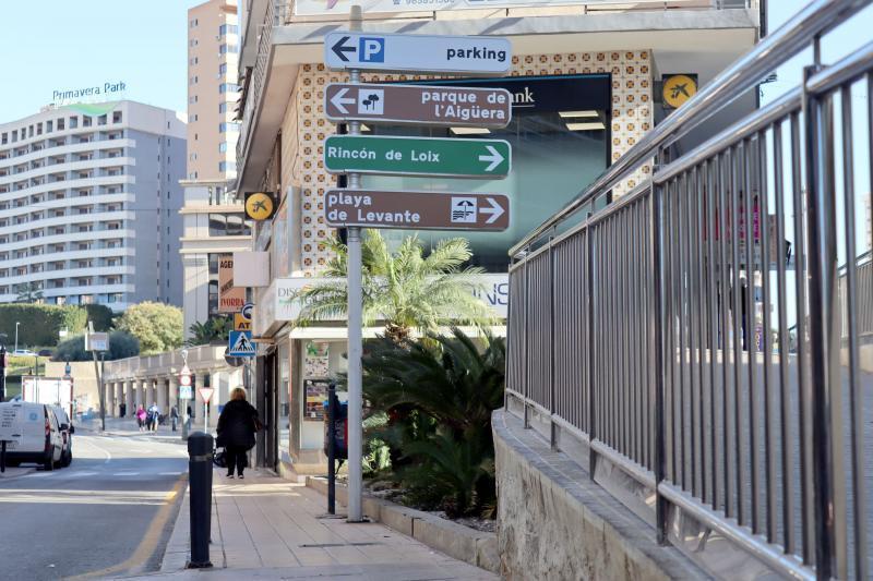 Benidorm inicia este lunes la obra para ampliar la acera de Herrerías que enlaza con la calle Puente para hacerla totalmente accesible