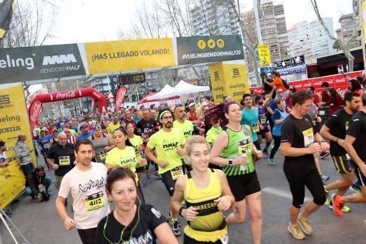 Ouais Zitane y Noelia Valle, vencedores de la media maratón Vueling Benidorm Half