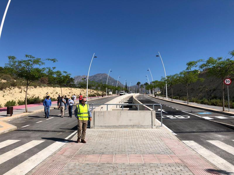 Benidorm abre al tránsito peatonal más viales en Poniente