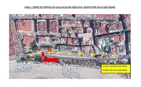 Toda la calle Sant Pere será peatonal a finales de mes