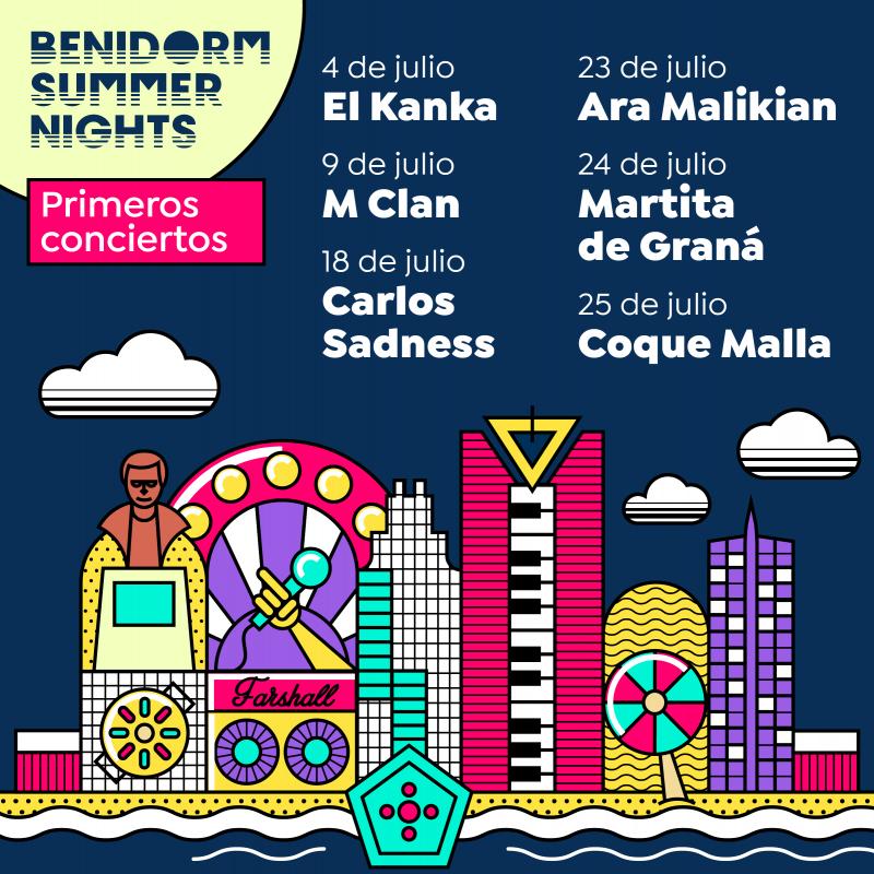 Benidorm Summer Nights reactiva la actividad musical y de ocio con aforos limitados y garantía de distancias de seguridad