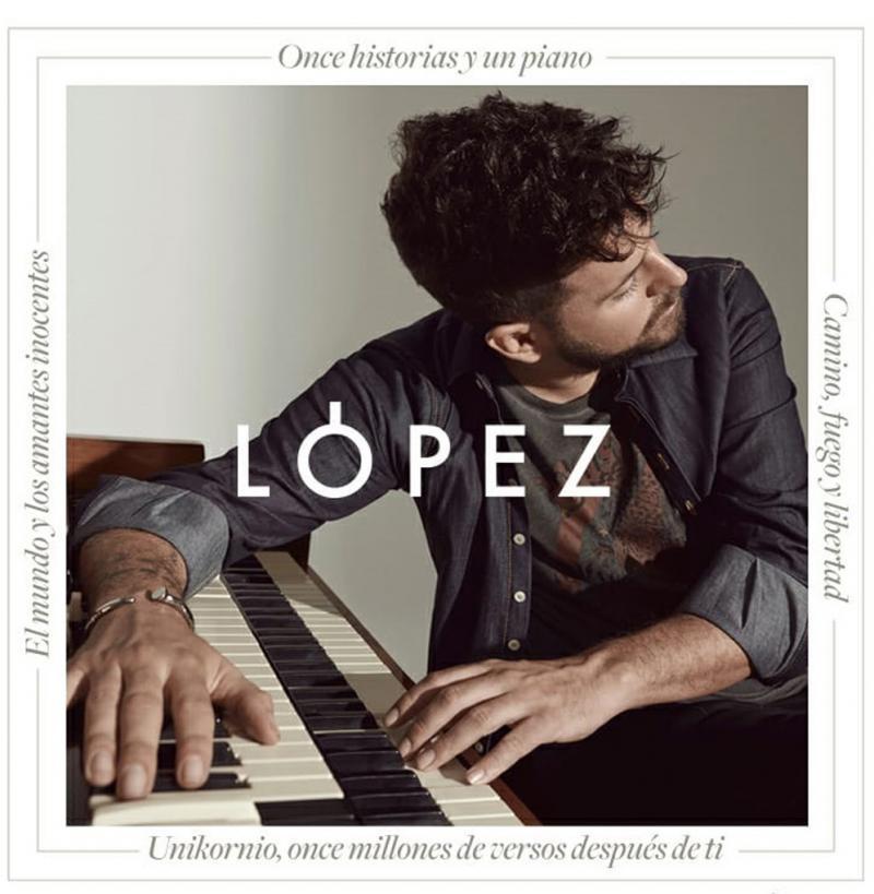 Pablo López, con su 'Piano y Voz', actuará en Benidorm el próximo 7 de agosto
