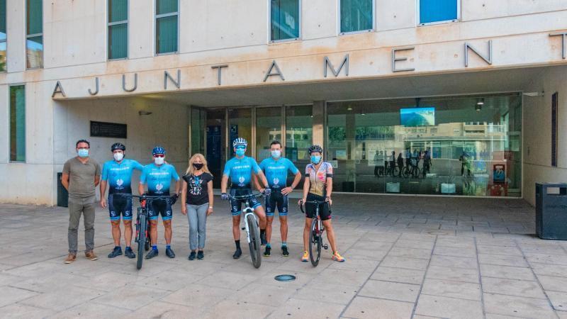 El equipo BTT de la Unión Ciclista Benidorm con la Semana Europea de la Movilidad