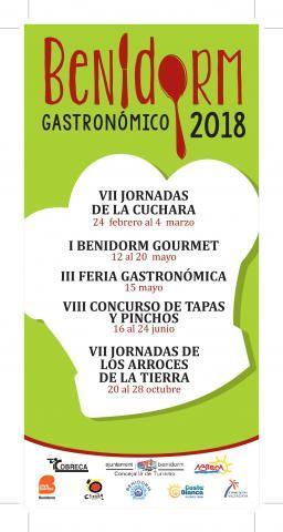 Cartel Benidorm gastronómico 2018