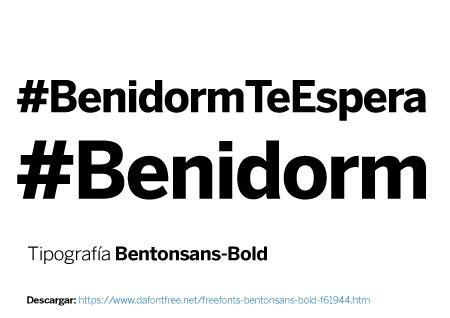 Imagen Hashtag Vectorial #BenidormTeEspera