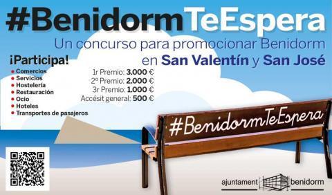 Cartel concurso #BenidormTeEspera