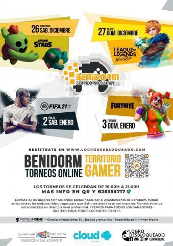 Cartel Benidorm territorio gamer