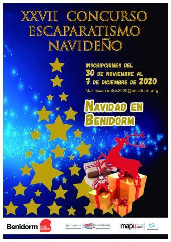Cartel XXVII Concurso escaparatismo navideño
