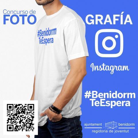 Cartel concurso fotografía #BenidormTeEspera