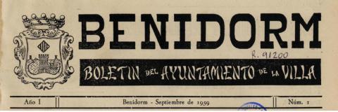 Imagen portada Boletín Municipal de la Villa de Benidorm