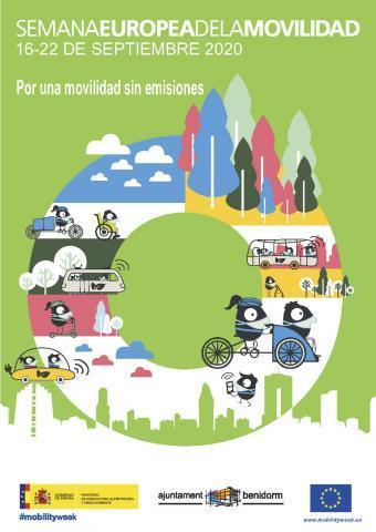 Cartel semana europea de la movilidad 2020