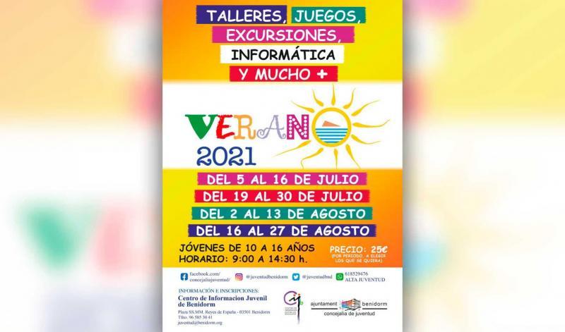 Juventud oferta 160 plazas en el programa 'Verano 2021'