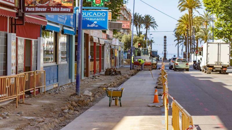 Obras calle Almería