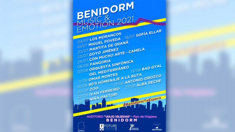 El 'Benidorm Music & Emotion 2021' cierra su programación para este verano