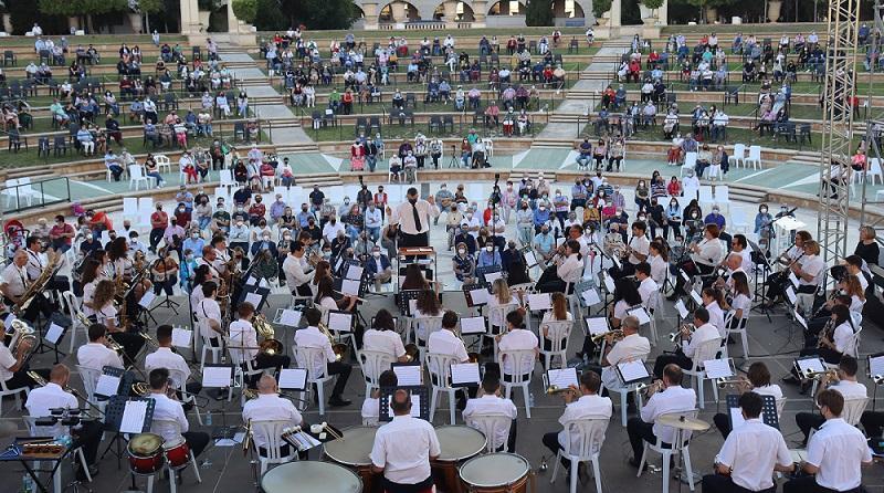 Momento del concierto de la UM en homenaje a Andrés Teuler
