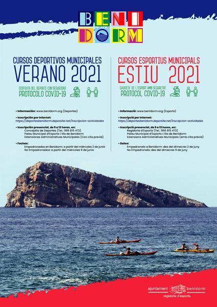 Cartel Cursos Deporte Verano 2021