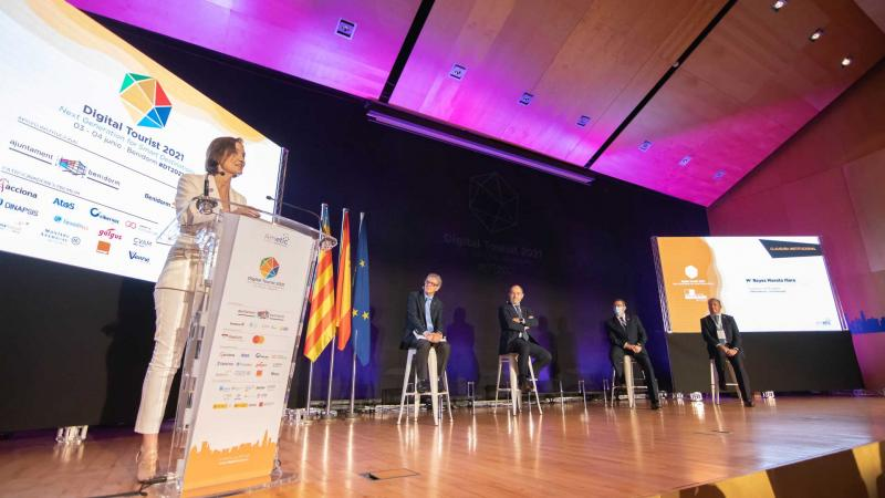 Reyes Maroto en la clausura de Digital Tourist 2021.