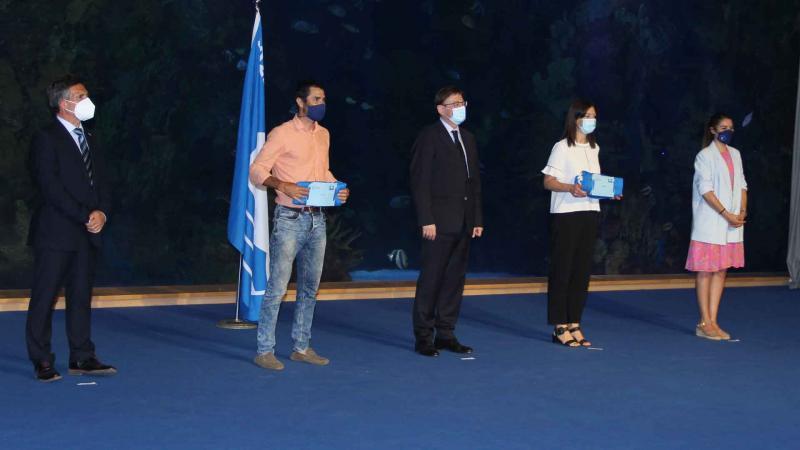 Acto de entrega de las banderas azules a Benidorm.