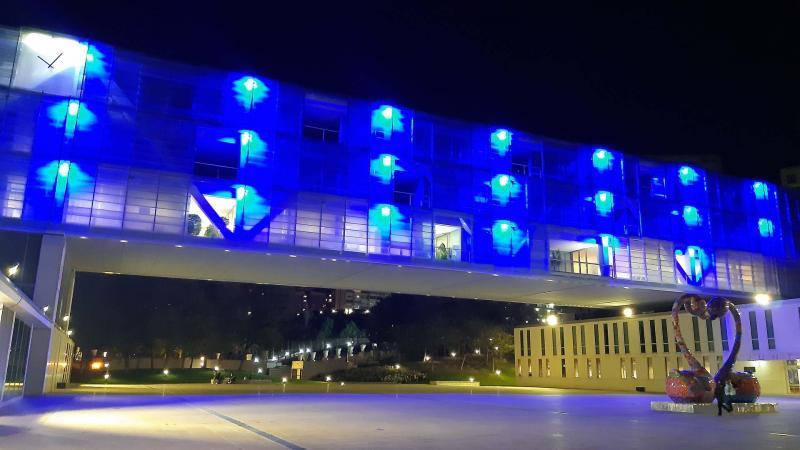 Benidorm participa de la conmemoración del Día Mundial del Refugiado iluminando tres enclaves emblemáticos