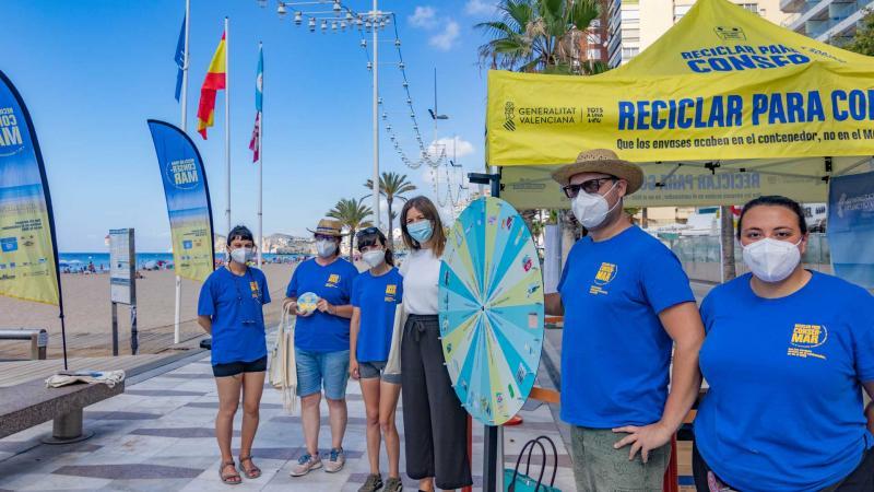 Benidorm se suma a la campaña «Reciclar para ConserMar»
