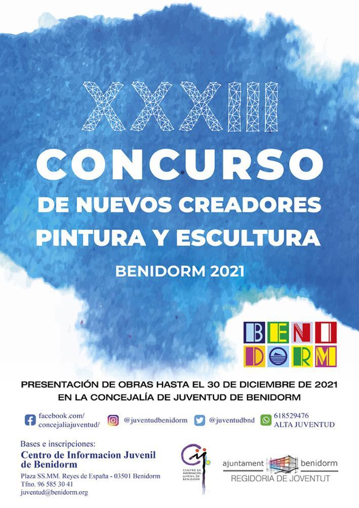 XXXIII Concurso Nuevos Creadores -pintura y escultura- Benidorm 2021