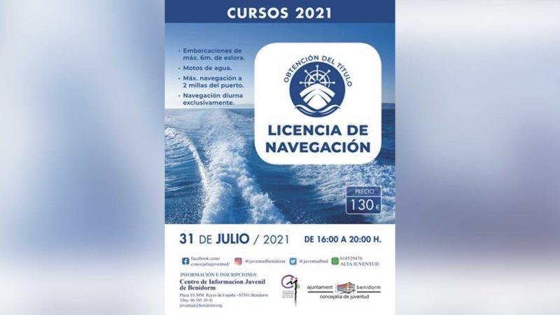 Curso para la obtención de la licencia de navegación en Benidorm