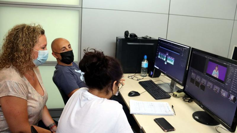 Proceso de montaje de los cortometrajes de Documóvil