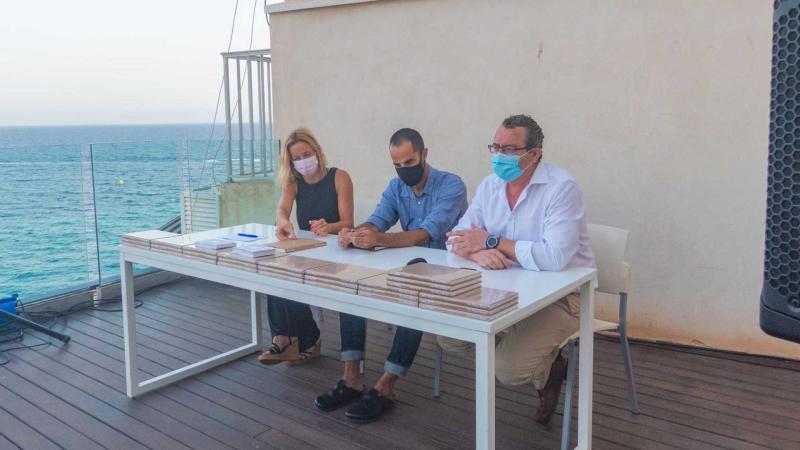 Ana Pellicer, Tito Pérez Mora y Toni Pérez en El Torrejó.