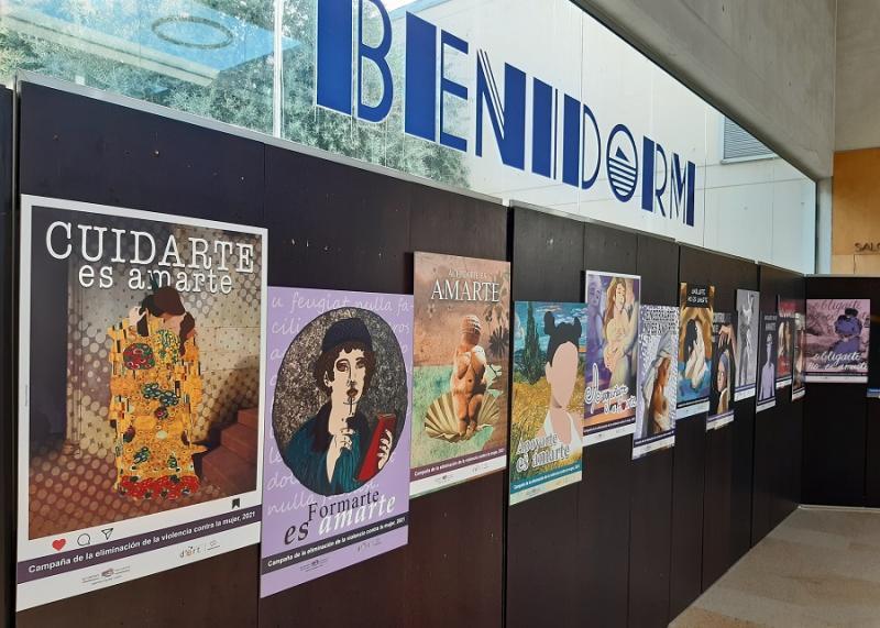 El proyecto de carteles contra la violencia de género del alumnado del IES Pere Mª Orts recibe una subvención de Diputación