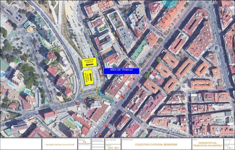 Cortes puntuales hasta el viernes en la calle Atocha y aledañas.