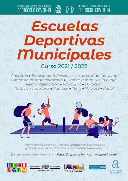 Cartel Escuelas Deportivas Municipales 2021/2022