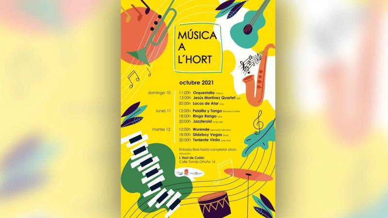 Benidorm estrena durante el Puente 'Música a l'Hort', con 9 conciertos gratuitos de diferentes estilos