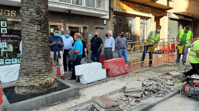 Visita obras avenida Beniardá