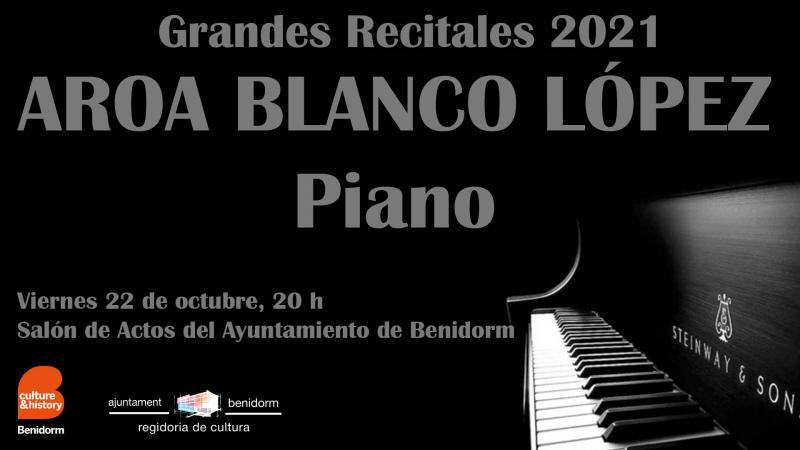 La pianista Aroa Blanco, mañana viernes en el Salón de Actos del Ayuntamiento de Benidorm