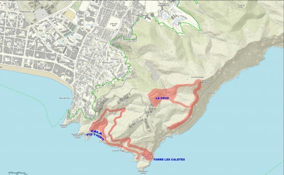 Benidorm limpia y desbroza cerca de 12.000 metros cuadrados en Serra Gelada