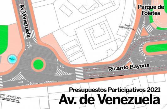 Un tráfico más fluido y mejoras en accesibilidad y seguridad gracias a la futura rotonda de Av. de Venezuela