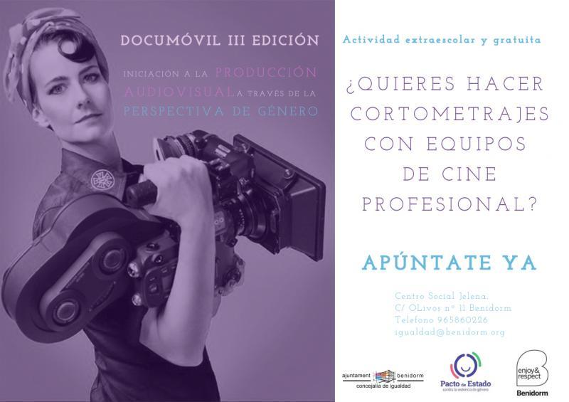 Igualtat llança la tercera edició de 'Documóvil', taller de cinema i gènere dirigit a estudiants d'ESO i Batxiller...