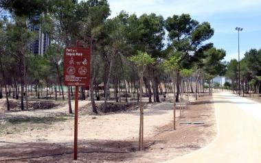 Benidorm abre el Parque de la Séquia Mare, tercer pulmón verde de la ciudad