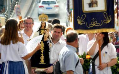 Ofrenda a los caídos en la mar con motivo de la festividad de la Virgen del Carmen