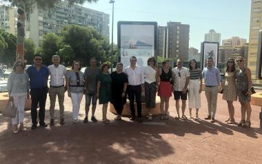 Benidorm estrena un nuevo espacio expositivo urbano en Els Tolls con la muestra fotográfica colectiva 'Mi visión de Benidorm'