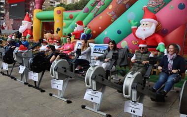 Más de 150 personas se han sumado al 'Maratón Solidario' de Remo, a beneficio de AFA