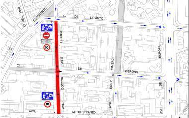 Benidorm convertix en zona de vianants la part baixa del carrer Doctor Orts Llorca