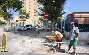 Els Tolls continúa con la mejora de la accesibilidad en la calle Bélgica