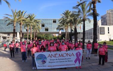 Salida simbólica de la marcha solidaria de Anémona, que este año se celebra de forma virtual