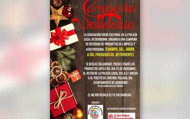 Torna per Nadal a Benidorm la campanya solidària de l'Associació Soci Cultural de la Policia Local...