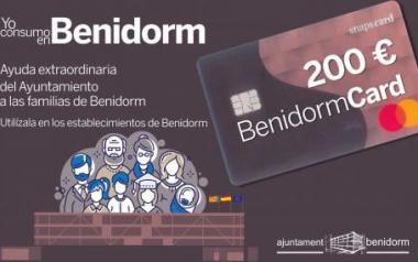 Hoy se ha desarrollado la tercera entrega de la tarjeta BenidormCard de ayuda extraordinaria a familias