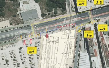 El acceso a Beniardá desde la CV-70 se limitará en su tramo final a un carril durante las obras de FGV en la estación del TRAM